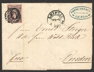 1854 Cover From German State Of Prussia With Scott 3 photo