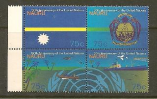 Nauru 415 - 18 1995 Blk Of 4 United Nations 50th Anniversary photo