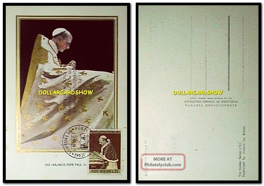 Vatican Italy 1964 His Holiness Pope Paul Vi L.  15 Vintage Rare Stamp Cover Fdc Worldwide photo