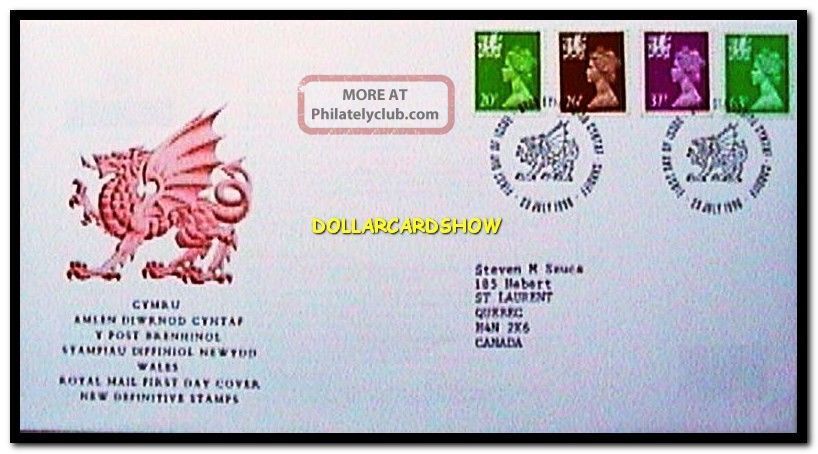 Uk Wales 1996 Royal Mail Cymru Queen Elizabeth Face £1.  47 Pound Stamp Cover Fdc Worldwide photo