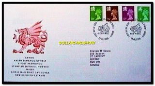 Uk Wales 1996 Royal Mail Cymru Queen Elizabeth Face £1.  47 Pound Stamp Cover Fdc photo