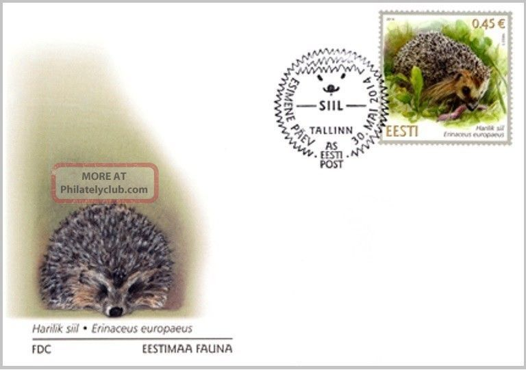 First Day Cover (fdc) Of Estonia 2014 - Hedgehog / 574 - 30.  05.  14 Worldwide photo