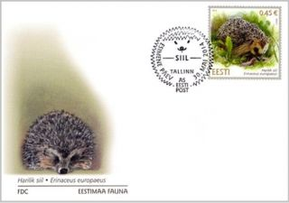 First Day Cover (fdc) Of Estonia 2014 - Hedgehog / 574 - 30.  05.  14 photo
