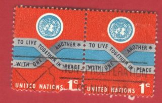 United Nations Stamp Scott 104 Pair Stamp See Photo photo