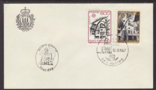 San Marino 1120 - 1121 Europa 1987 Unaddressed Fdc T301 photo