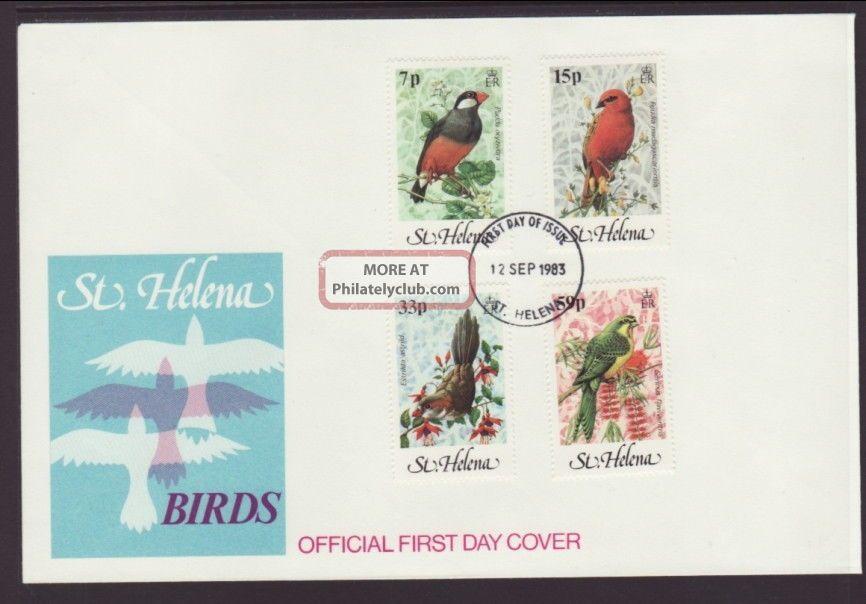 Saint Helena 294 - 297 Birds 1983 Unaddressed Fdc T741 Worldwide photo