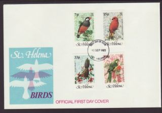 Saint Helena 294 - 297 Birds 1983 Unaddressed Fdc T741 photo