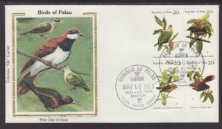 Palau 8a Birds 1983 Colorano Unaddressed Fdc T269 photo