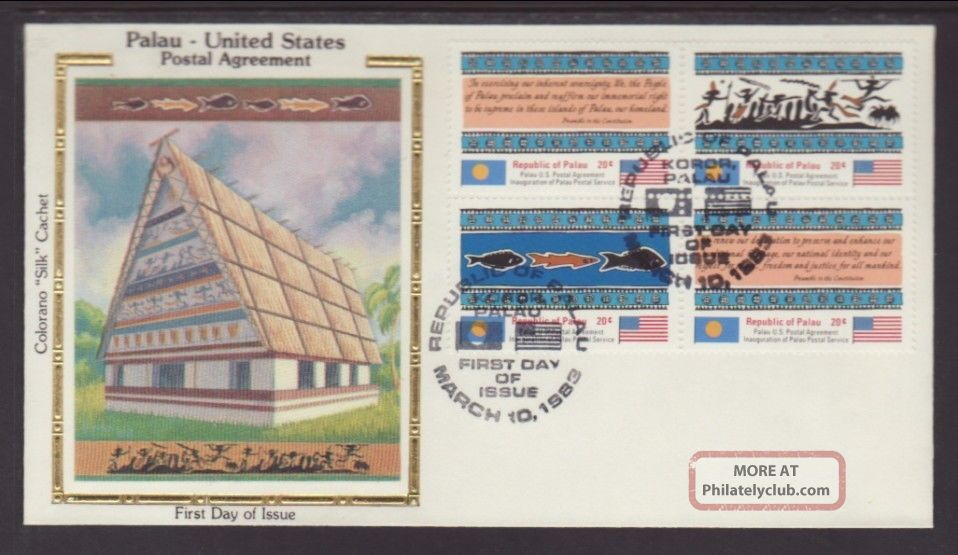 Palau 4a Postal Agreement 1983 Colorano Unaddressed Fdc T305 Worldwide photo