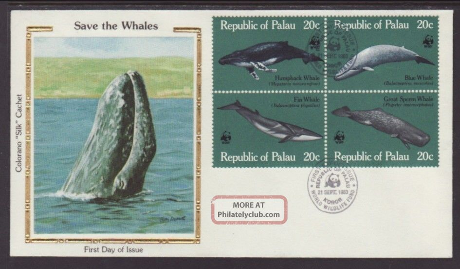 Palau 27a Whales 1983 Colorano Unaddressed Fdc T271 Worldwide photo