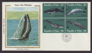 Palau 27a Whales 1983 Colorano Unaddressed Fdc T271 photo