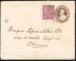 2311 Br.  India To Us Ps Cover 1928 Bombay - Chicago photo