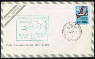 2301 Argentina To Colombia Ffc Cover 1964 Avianca Buenos Aires - Bogota photo