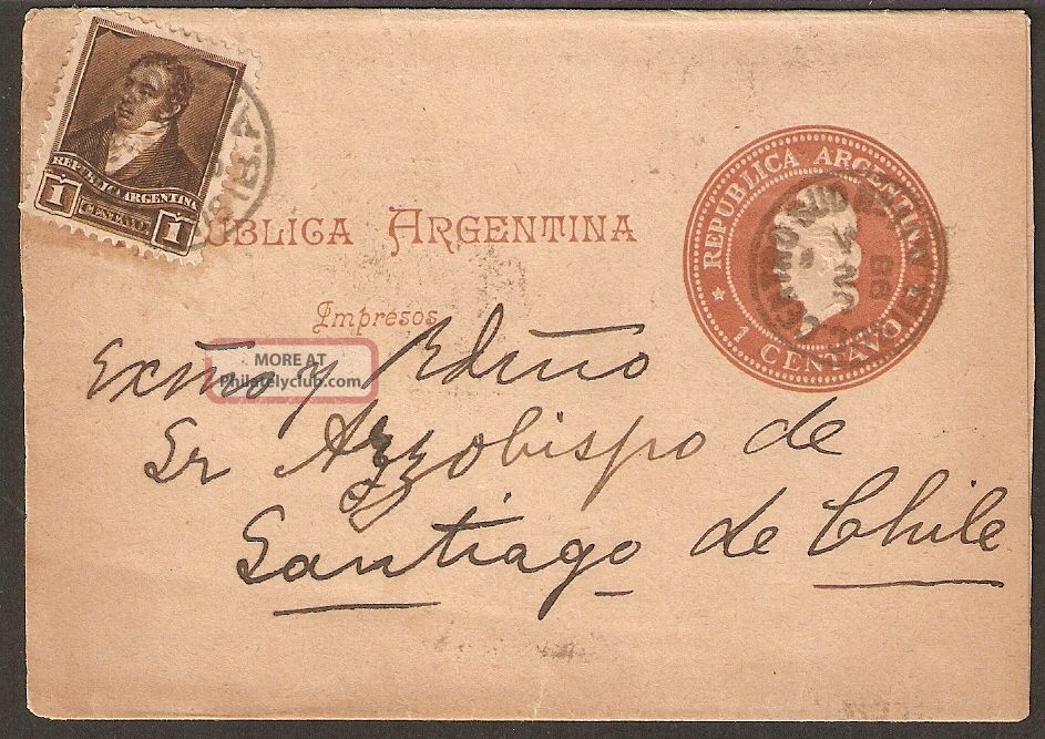 1328 Argentina To Chile Ps Wrapper 1898 Buenos Aires - Santiago Worldwide photo