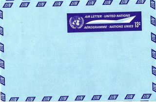 United Nations 1968 13c Airletter / photo