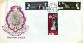 Malta 13 November 1967 Royal Visit Unaddressed First Day Cover Cds photo