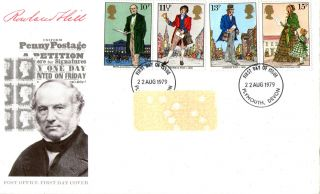 22 August 1979 Sir Rowland Hill Post Office First Day Cover Plymouth Fdi photo