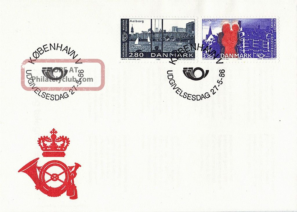 Denmark 1986 Nordic Postal Cooperation Unaddressed First Day Cover Shs Europe photo