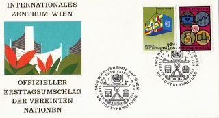 United Nations 1983 Commerce & Development First Day Cover Vienna Shs photo