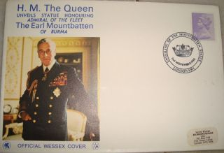 Official Wessex First Day Cover On Mount Batten Of Burma From Usa 1983 photo