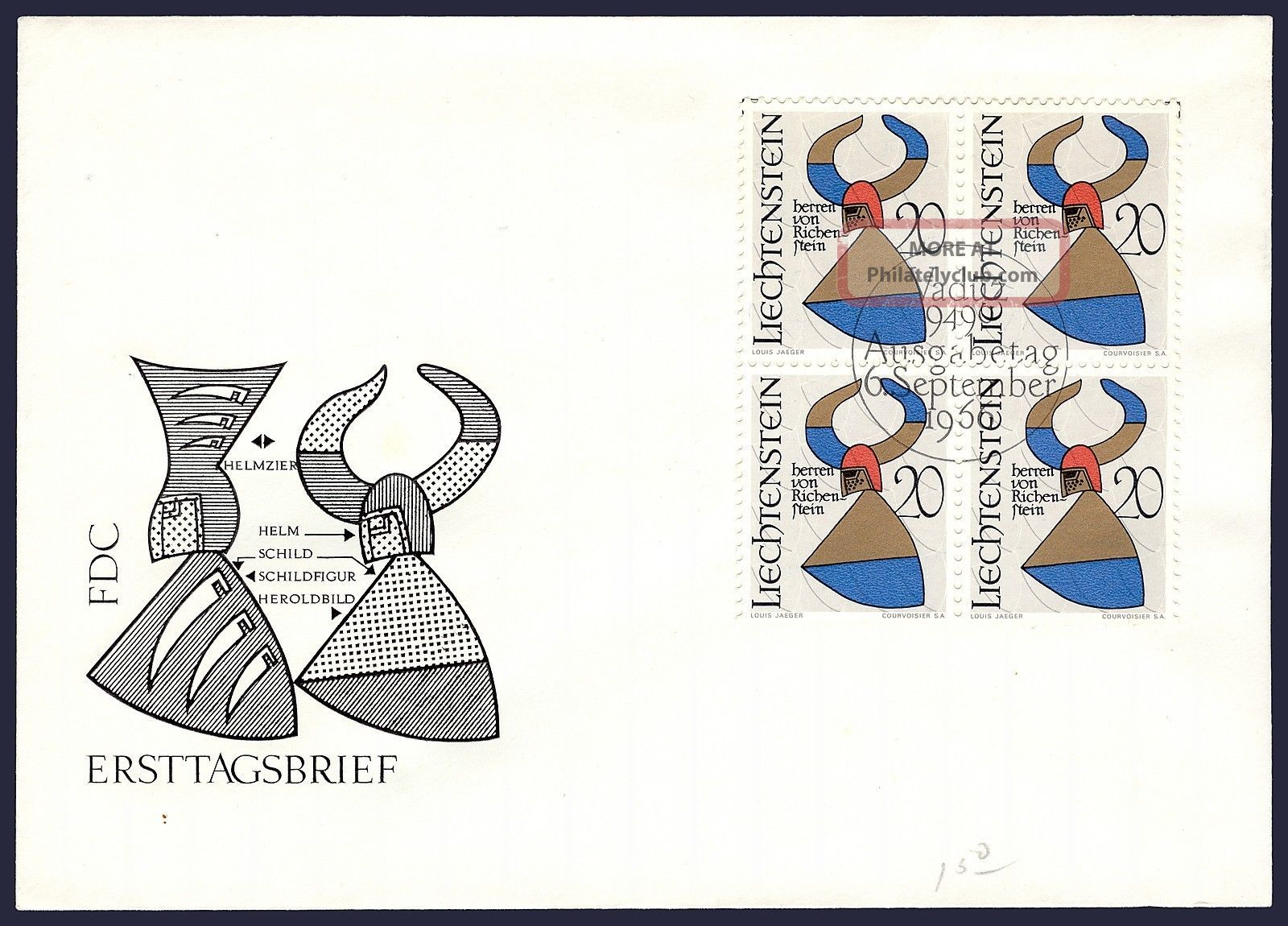 Worldwide: Liechtenstein Fdc Arms Of The Barons Of Richenstein Ph - 024 Worldwide photo
