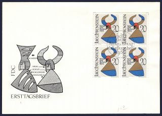 Worldwide: Liechtenstein Fdc Arms Of The Barons Of Richenstein Ph - 024 photo