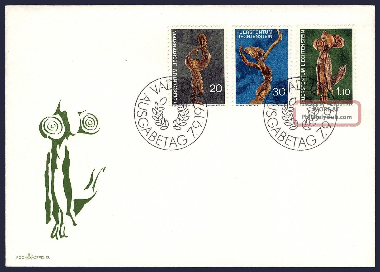 Worldwide: Liechtenstein Fdc Sculptures By Rudolf Schadler Ph - 032 Worldwide photo