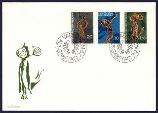 Worldwide: Liechtenstein Fdc Sculptures By Rudolf Schadler Ph - 032 photo