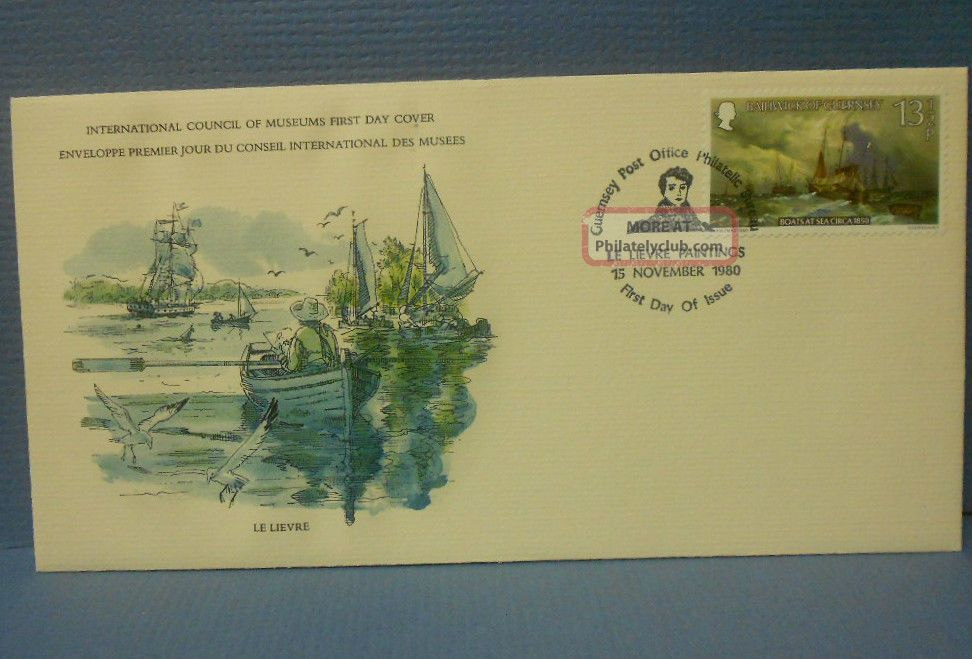 Guernsey 1980 First Day Cover Boats At Sea 1850 Art Christmas 13 1/2 P Stamp Shi Worldwide photo