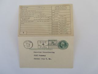 Us Re - Valued Uy15 Reply Card Horizontal Unseverd Pre - Addressed (1) Side Mailed photo
