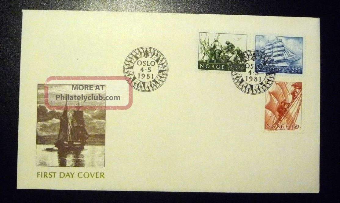 Norway Fdc 1981 Sailing Vessels 130,  150,  220 Ore Fleetwood Cover Xf Worldwide photo