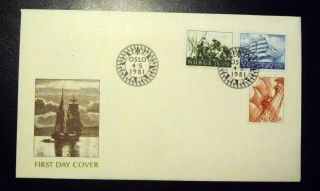 Norway Fdc 1981 Sailing Vessels 130,  150,  220 Ore Fleetwood Cover Xf photo