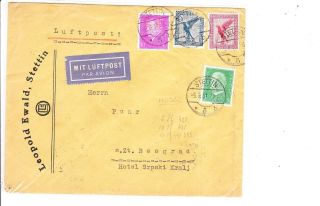 Germany 1931 Air Mail Cover To Yugoslavia Vf photo