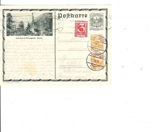 Austria 1934 Uprated Ps With View To Hungary Vf photo