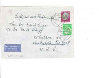 Germany 1940 Am Censored Cover To Us Vf Two Scan photo