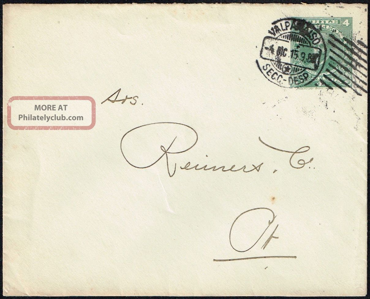 661 Chile Ps Cover 1915 Valparaiso Local Post Worldwide photo