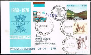 691 Chile Registered Cover 1986 Correo Naval Puerto Williams - Concepcion photo