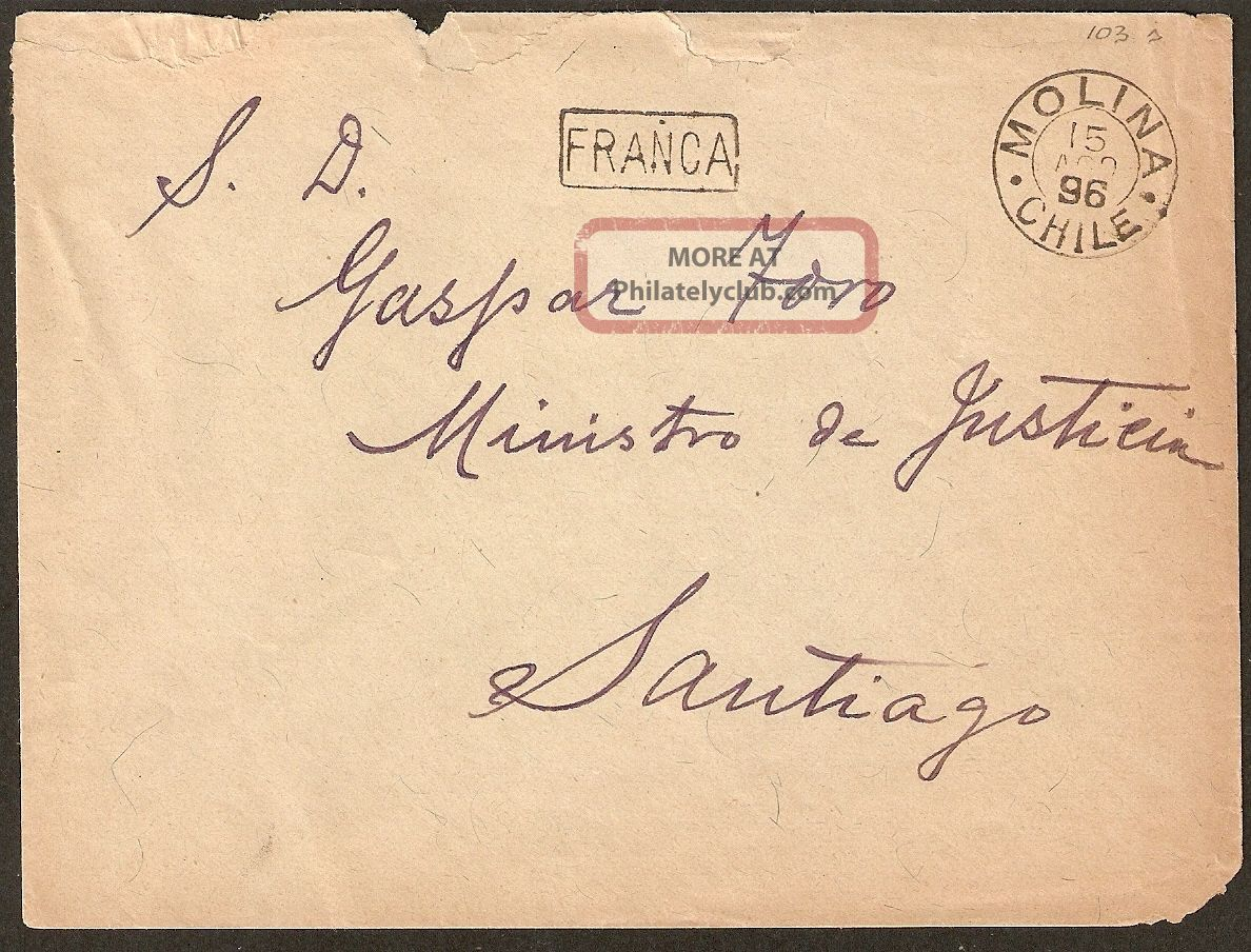1659 Chile Cover 1896 Franca Molina Worldwide photo