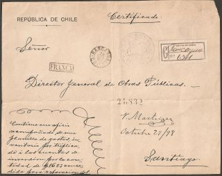 1661 Chile Big Fragment Registered 1898 Franca Rancagua photo
