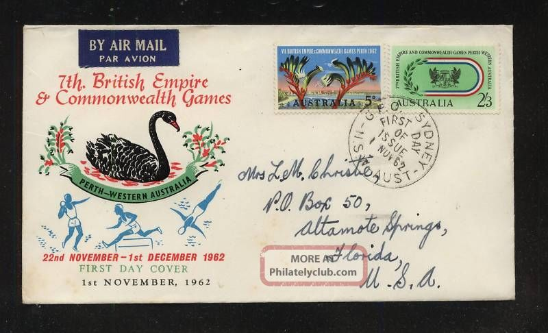 Australia First Day Cover 1962 Worldwide photo