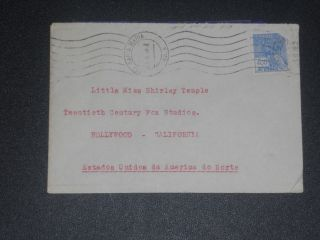 1938 Fan Mail Cover To Shirley Temple photo