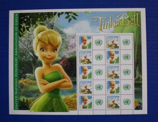United Nations (s48) 2012 Tinker Bell Personalized Sheet photo