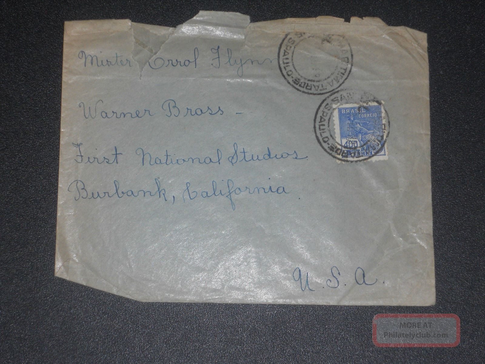 1930 ' S Fan Mail Cover To Errol Flynn Worldwide photo