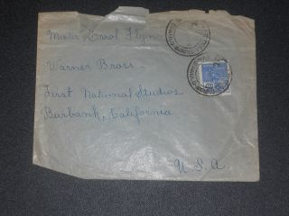 1930 ' S Fan Mail Cover To Errol Flynn photo