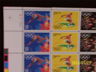 U S Scott 2553 - 57 Summer Olympics_sheet Of 40_fv $11.  60_cv $37.  50 photo