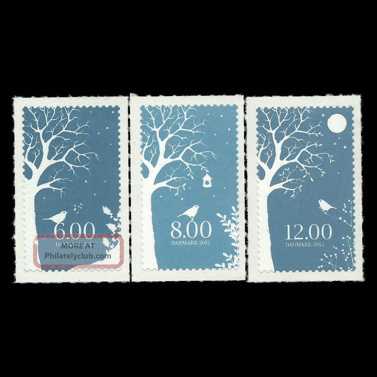 Denmark 2012 - Christmas 2012 Winter In Denmark Tree Art Nature - Topical Stamps photo