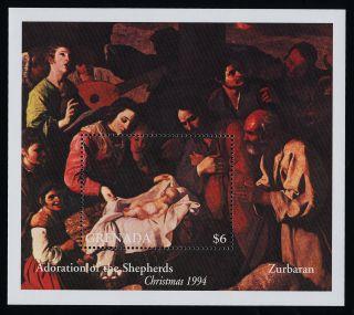 Grenada 2399 Christmas,  Art,  Adoration Of The Shepherds photo