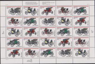 Us Antique Autos Sheet Of 25 Scott 3019 - 3023 photo