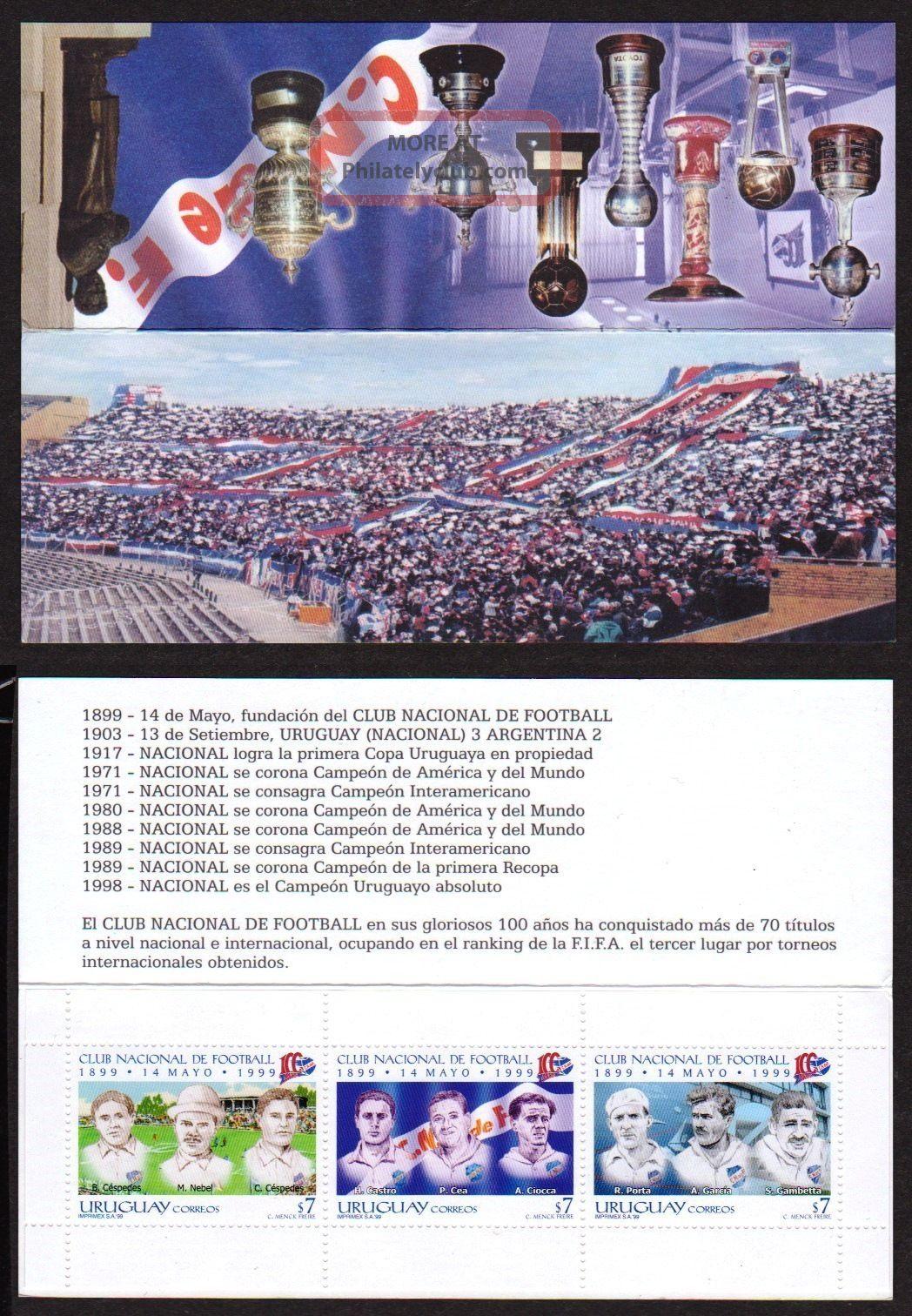 Uruguay: Mi 2445 - 47 Sport: National Soccer / Football Team (1999) Booklet Latin America photo
