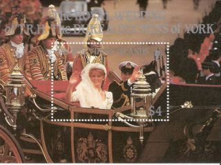 Virgin Islands 1986 Wedding Prince Andrew & Sarah Ferguson S/s (sc 546) photo